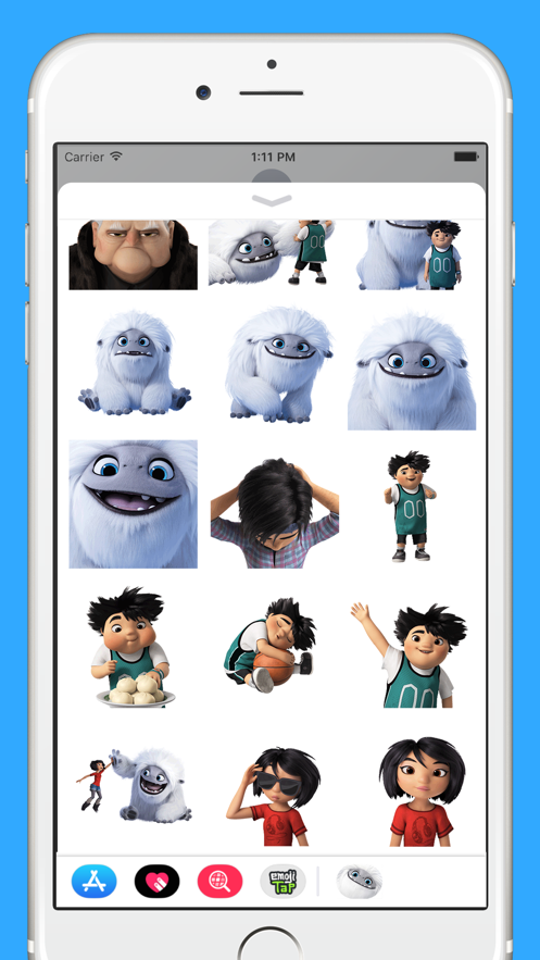 Abominable Movie Stickers